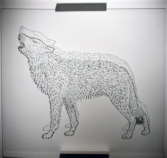 dibujo sobre vidrio
